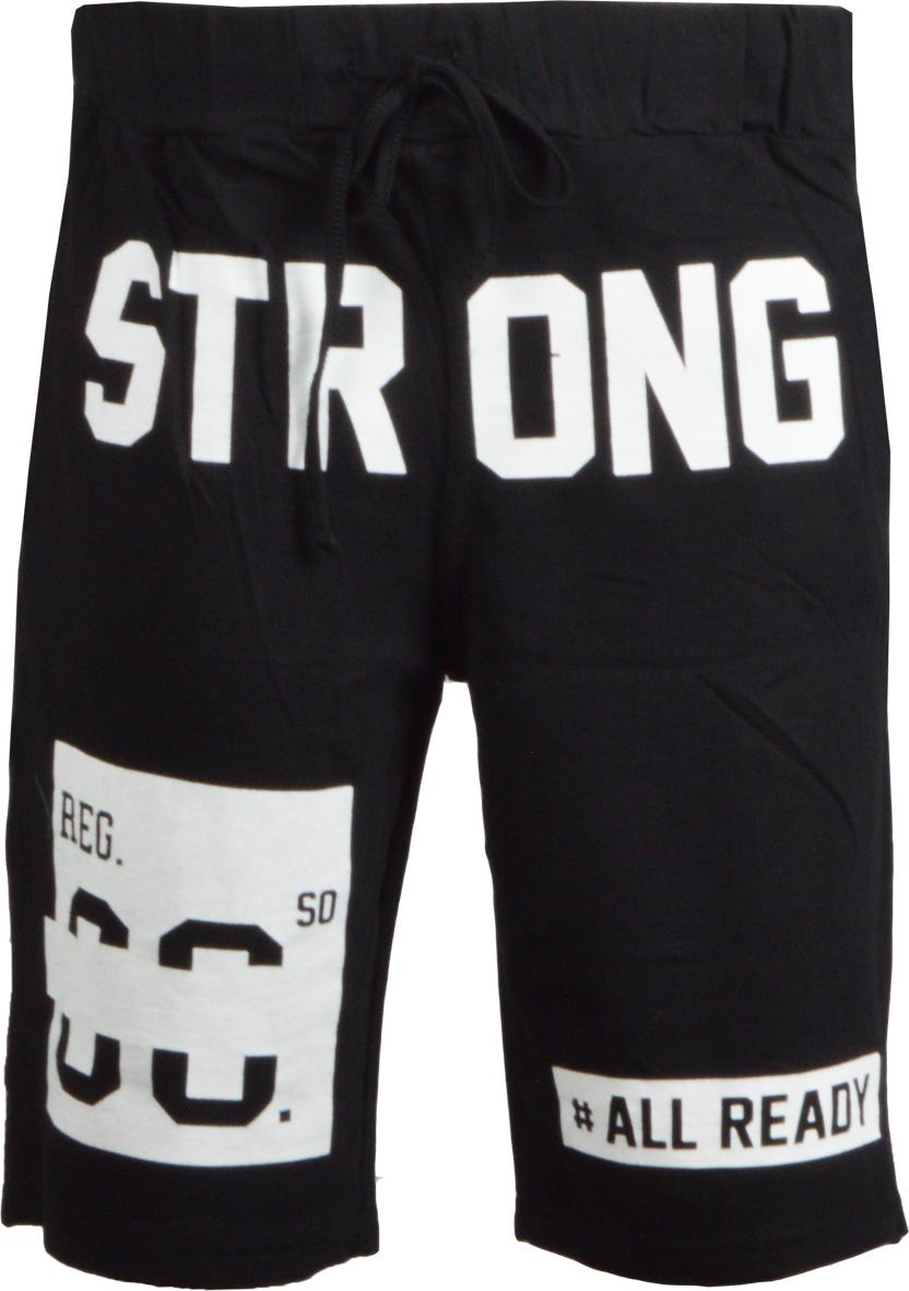 Ανδρική βερμούδα Strong-Μαύρο αρχική ανδρικά ρούχα βερμούδες