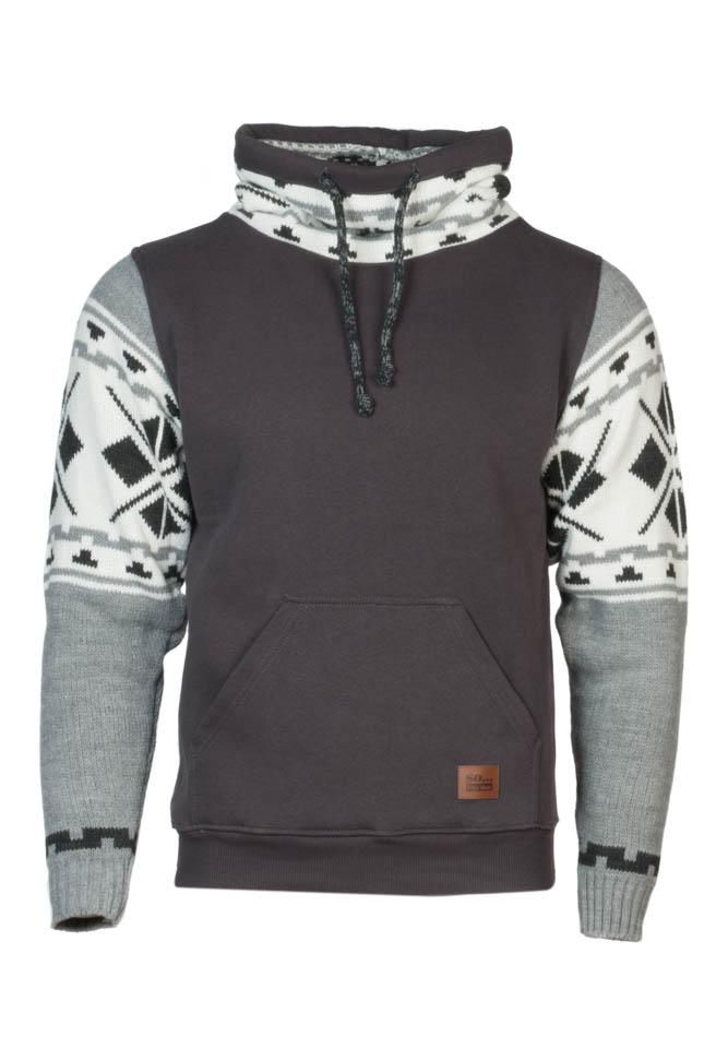 Ανδρικό Πλεκτό Φούτερ Dark Grey αρχική ανδρικά ρούχα επιλογή ανά προϊόν φούτερ