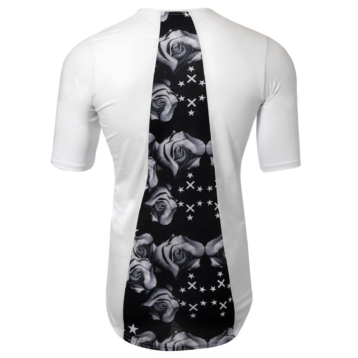 Ανδρικό T-Shirt Grey Rose-Άσπρο αρχική ανδρικά ρούχα επιλογή ανά προϊόν t shirts
