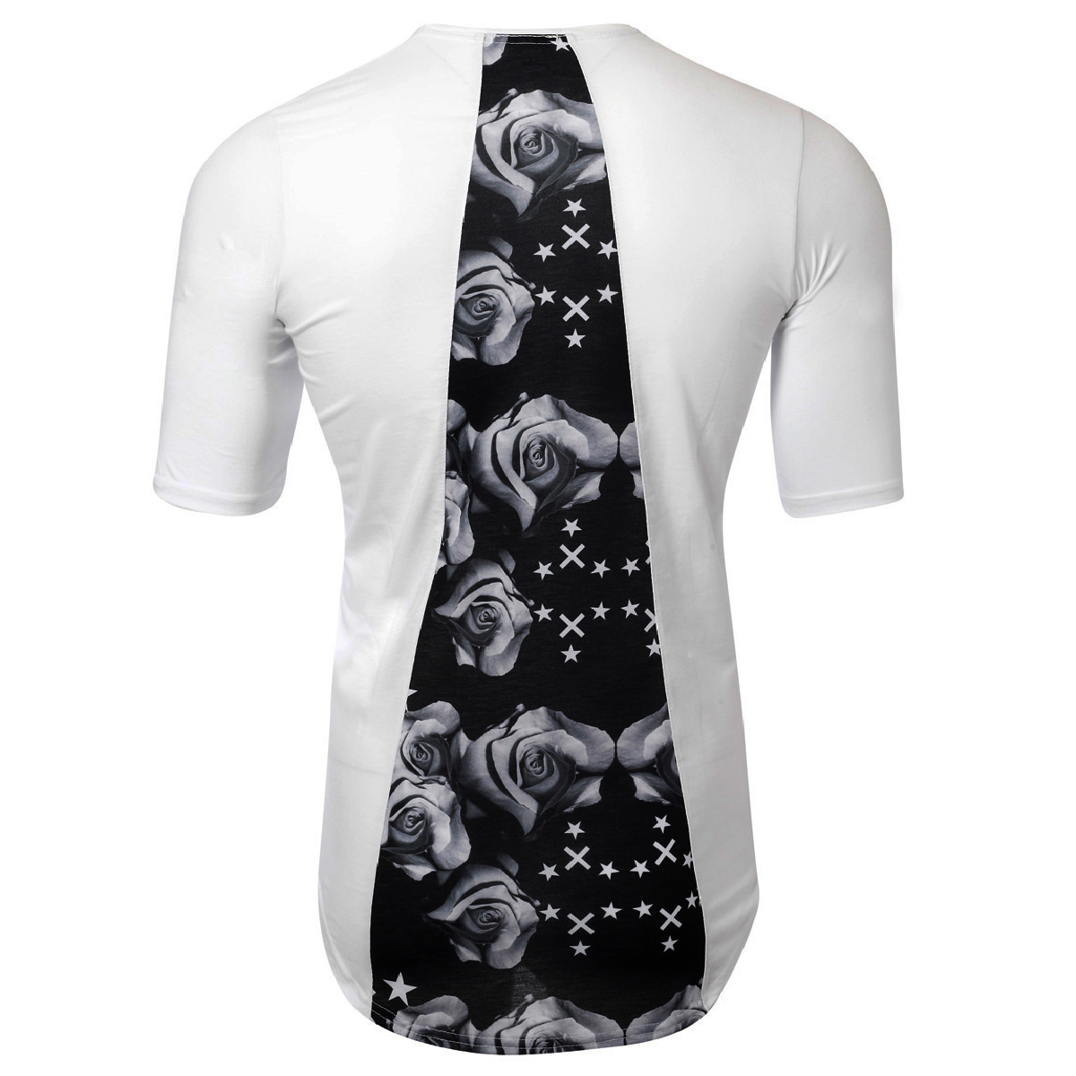 Ανδρικό T-Shirt Grey Rose-Μαύρο αρχική ανδρικά ρούχα επιλογή ανά προϊόν t shirts