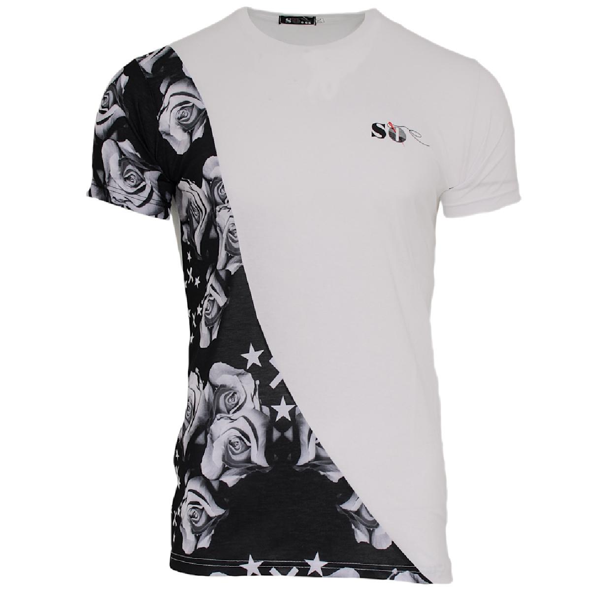 Ανδρικό Τ-shirt Star Rose-Άσπρο αρχική ανδρικά ρούχα επιλογή ανά προϊόν t shirts