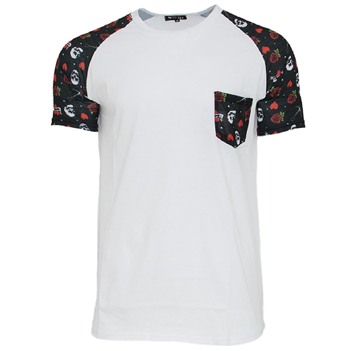 Ανδρικό Τ-shirt Skull Rose-Άσπρο αρχική ανδρικά ρούχα επιλογή ανά προϊόν t shirts
