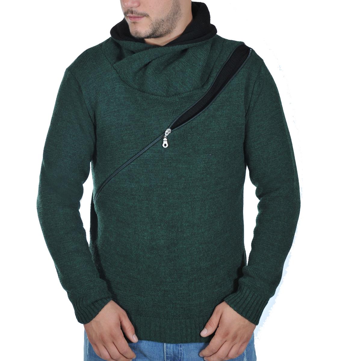 Ανδρικό Πλεκτό Mε Φερμουάρ-Κυπαρισσί αρχική ανδρικά ρούχα πλεκτά