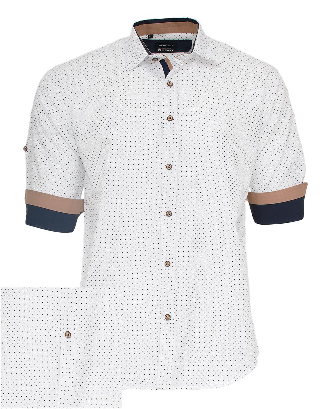 Ανδρικό Πουκάμισο So Fashion White Poua-Άσπρο αρχική ανδρικά ρούχα πουκάμισα