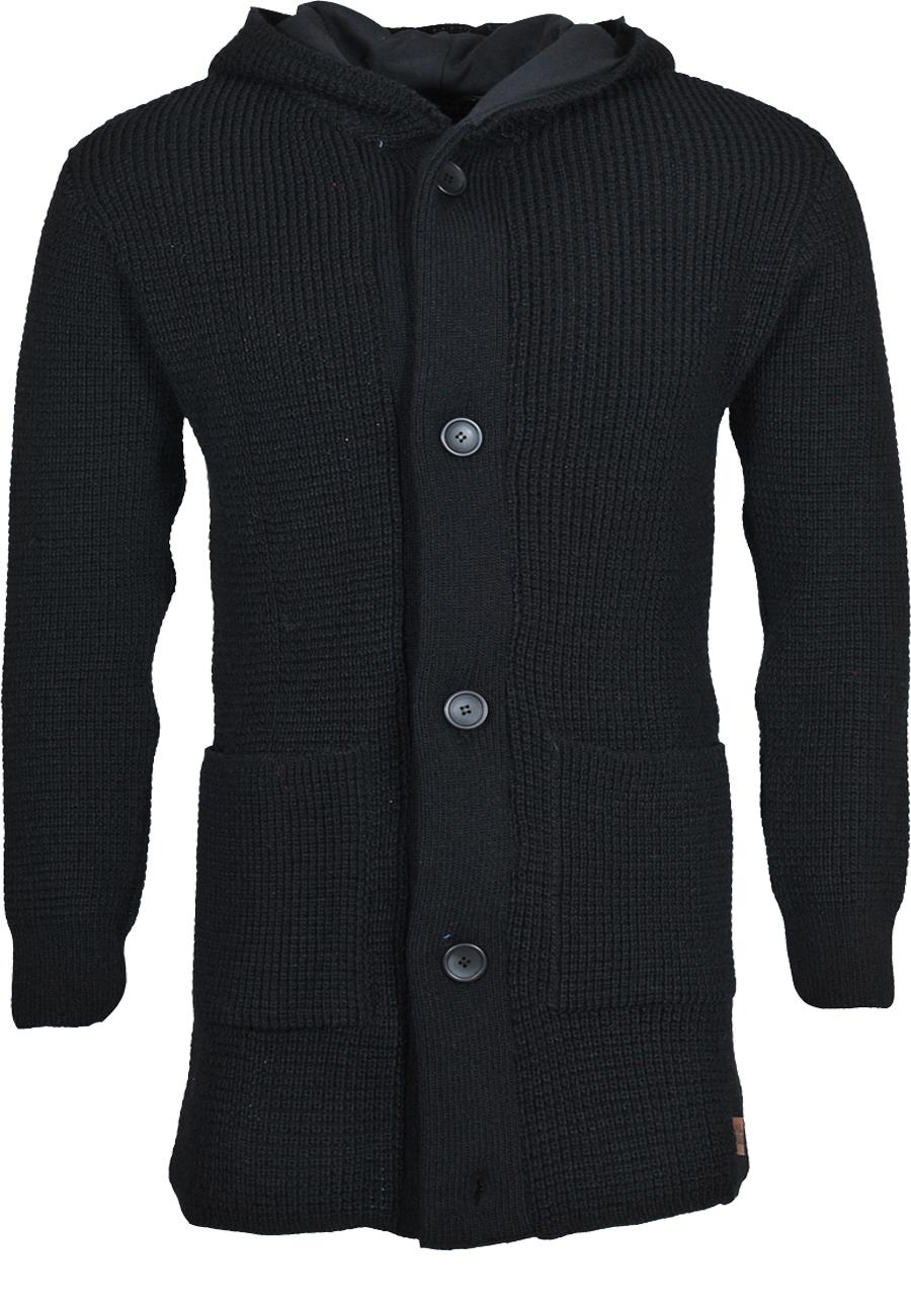 Πλεκτή Ζακέτα μακριά So Fashion-Μαύρο αρχική ανδρικά ρούχα ζακέτες