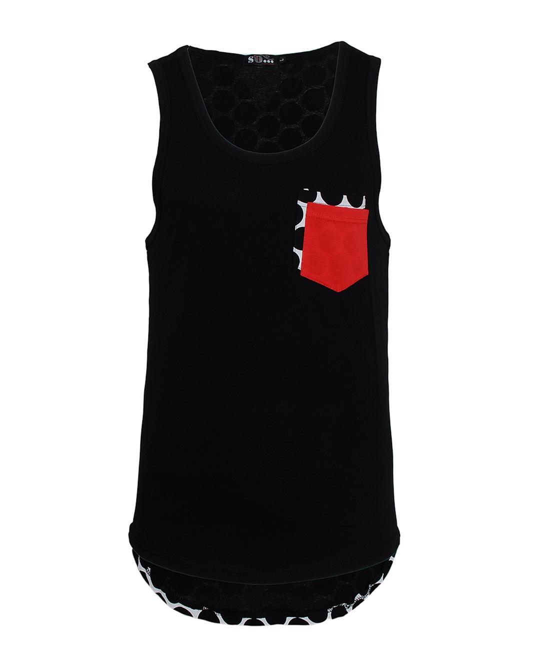 Ανδρικό Αμάνικο Back Poua-Μαύρο αρχική ανδρικά ρούχα επιλογή ανά προϊόν t shirts