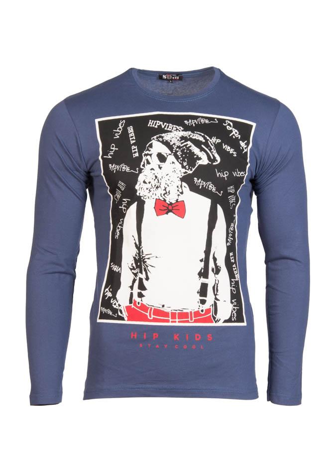 Ανδρική Μπλούζα Hip Kids D.Blue αρχική ανδρικά ρούχα επιλογή ανά προϊόν μπλούζες