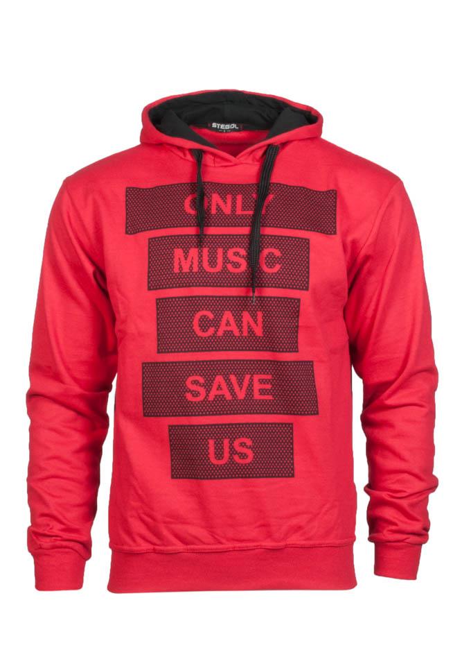 Ανδρικό Φούτερ Music Red αρχική ανδρικά ρούχα φούτερ