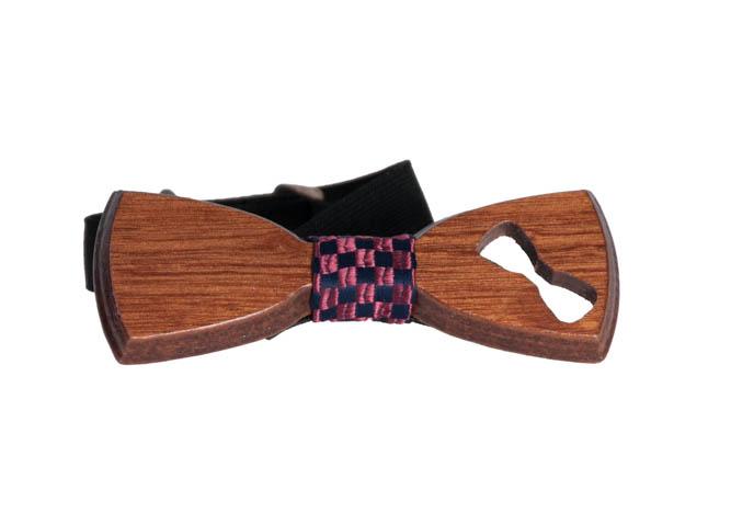 Ανδρικό Ξύλινο Παπιγιόν Wood Καρό αρχική αξεσουάρ   παπούτσια παπιγιόν