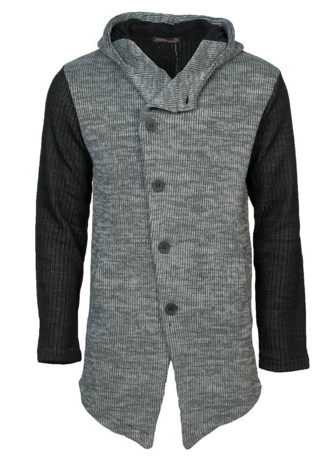 Πλεκτή Ζακέτα Black Sleeves αρχική ανδρικά ρούχα ζακέτες