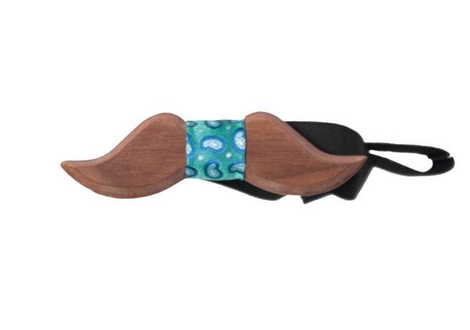 Ανδρικό Ξύλινο Παπιγιόν Wood Mustache Green αρχική αξεσουάρ   παπούτσια παπιγιόν
