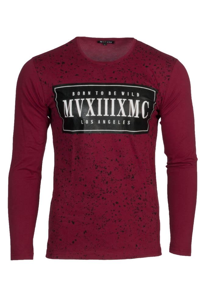 Ανδρική Μπλούζα Wild Bordeaux αρχική ανδρικά ρούχα μπλούζες