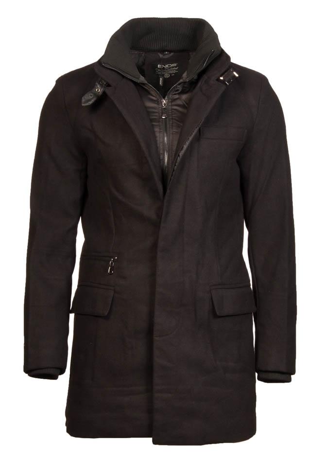 Ανδρικό Παλτό Enos Label Black