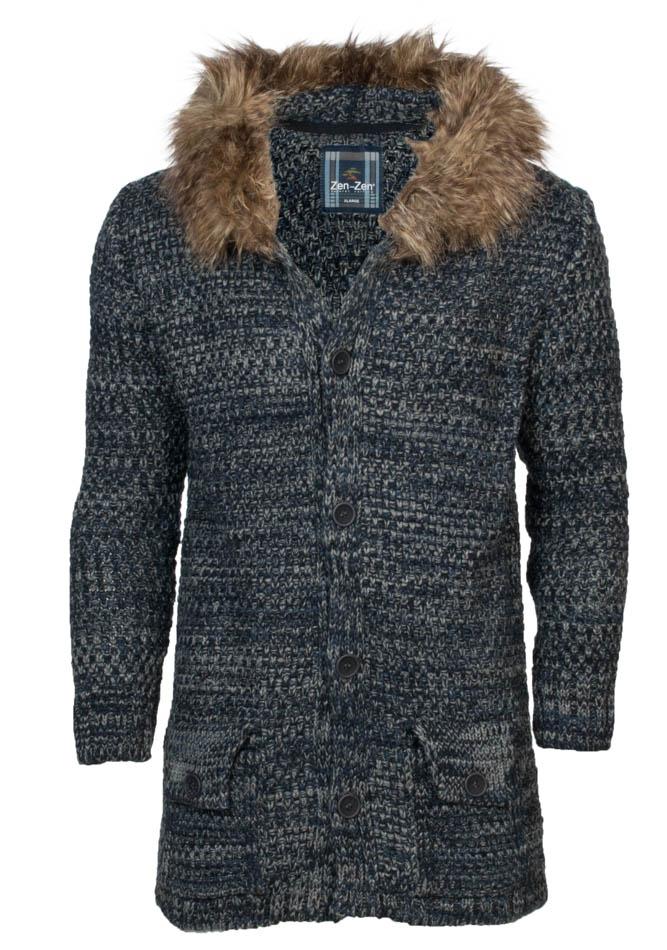 Πλεκτή Ζακέτα Blue Zen αρχική ανδρικά ρούχα ζακέτες