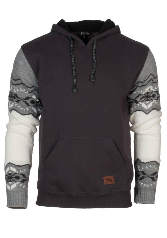 Ανδρικό Φούτερ Wool Neck Grey αρχική ανδρικά ρούχα επιλογή ανά προϊόν φούτερ