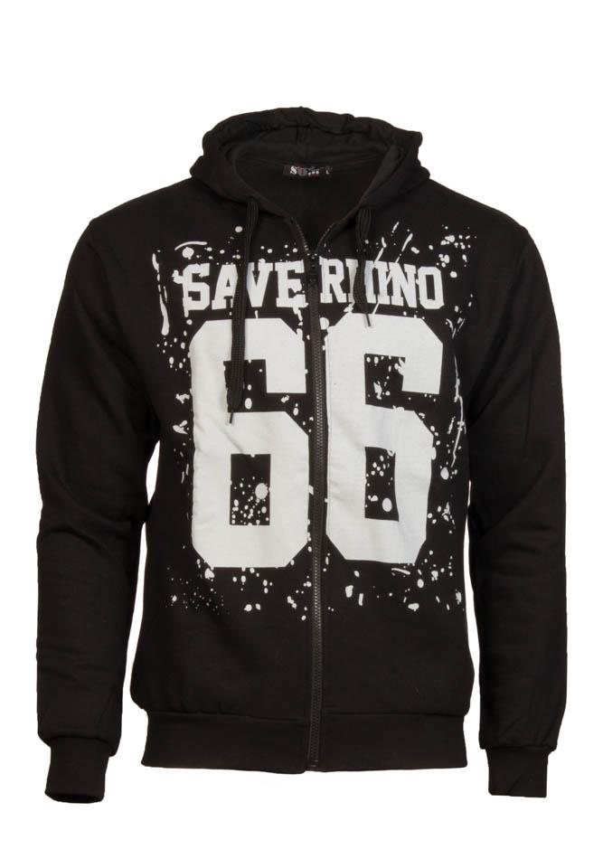 Ανδρική Φούτερ Ζακέτα Save 66 Black αρχική ανδρικά ρούχα φούτερ