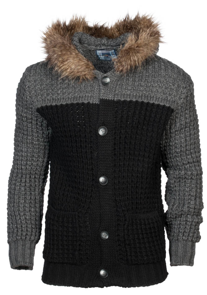 Πλεκτή Ζακέτα Zen Grey Black αρχική ανδρικά ρούχα επιλογή ανά προϊόν ζακέτες