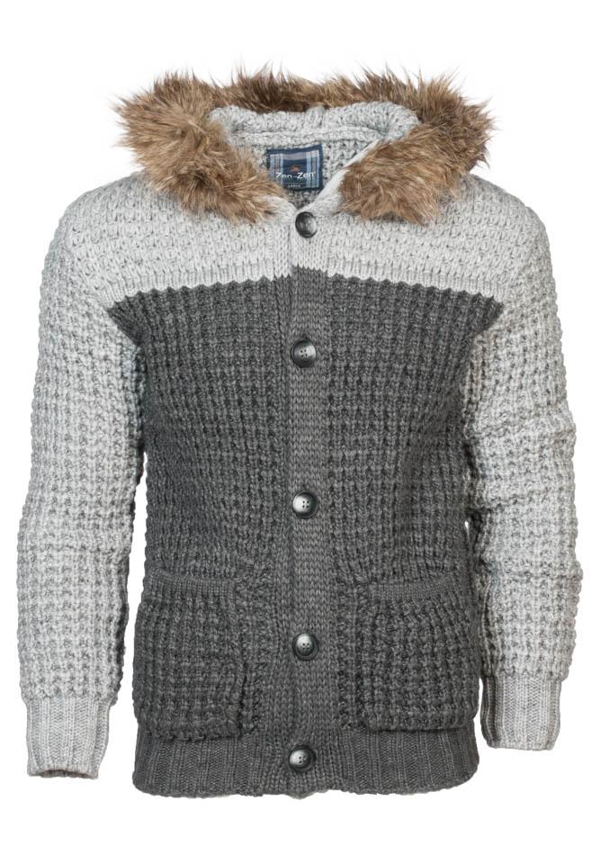 Πλεκτή Ζακέτα Zen White D.Grey αρχική ανδρικά ρούχα ζακέτες