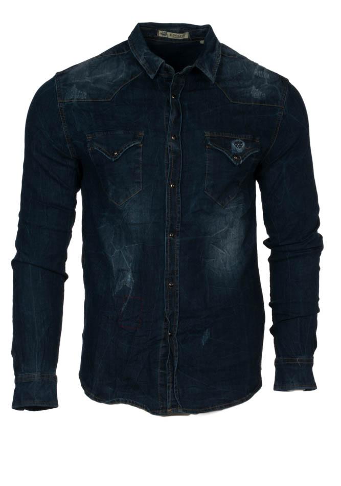 Ανδρικό Jean Πουκάμισο D.Blue Poua αρχική ανδρικά ρούχα πουκάμισα