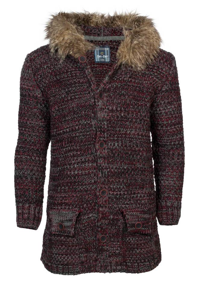 Πλεκτή Ζακέτα Bordeaux Zen αρχική ανδρικά ρούχα επιλογή ανά προϊόν ζακέτες