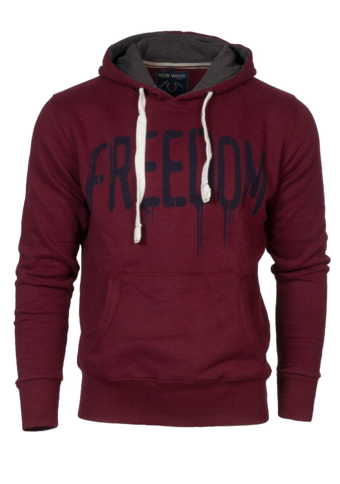Ανδρικό Φούτερ Wave Freedom Bordeaux αρχική ανδρικά ρούχα φούτερ