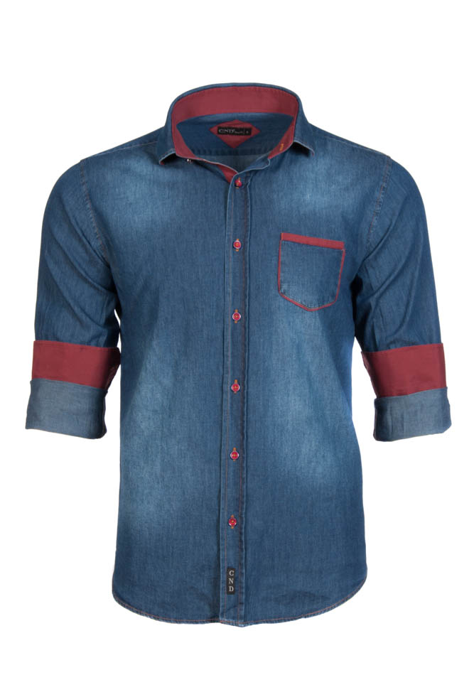Ανδρικό Πουκάμισο CND Jean Blue αρχική ανδρικά ρούχα επιλογή ανά προϊόν πουκάμισα