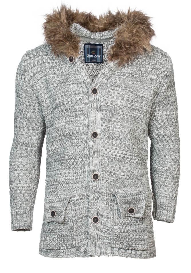 Πλεκτή Ζακέτα Zen Grey αρχική ανδρικά ρούχα επιλογή ανά προϊόν ζακέτες