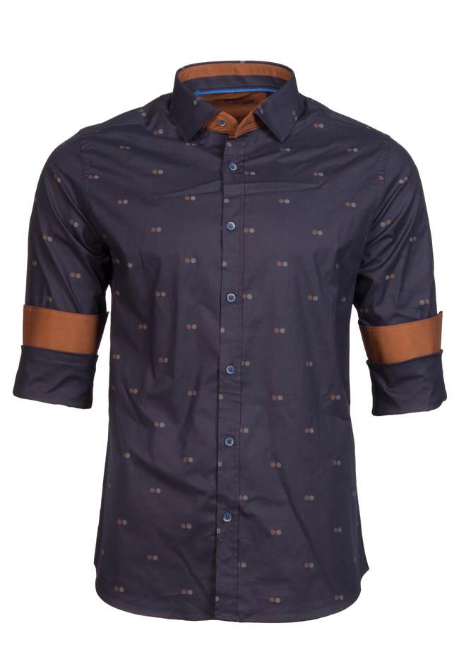 Ανδρικό Πουκάμισο Brand's Double Poua αρχική ανδρικά ρούχα πουκάμισα