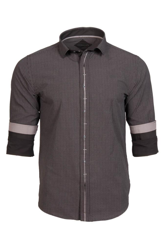 Ανδρικό Πουκάμισο CND Black Grey Poua αρχική ανδρικά ρούχα επιλογή ανά προϊόν πουκάμισα