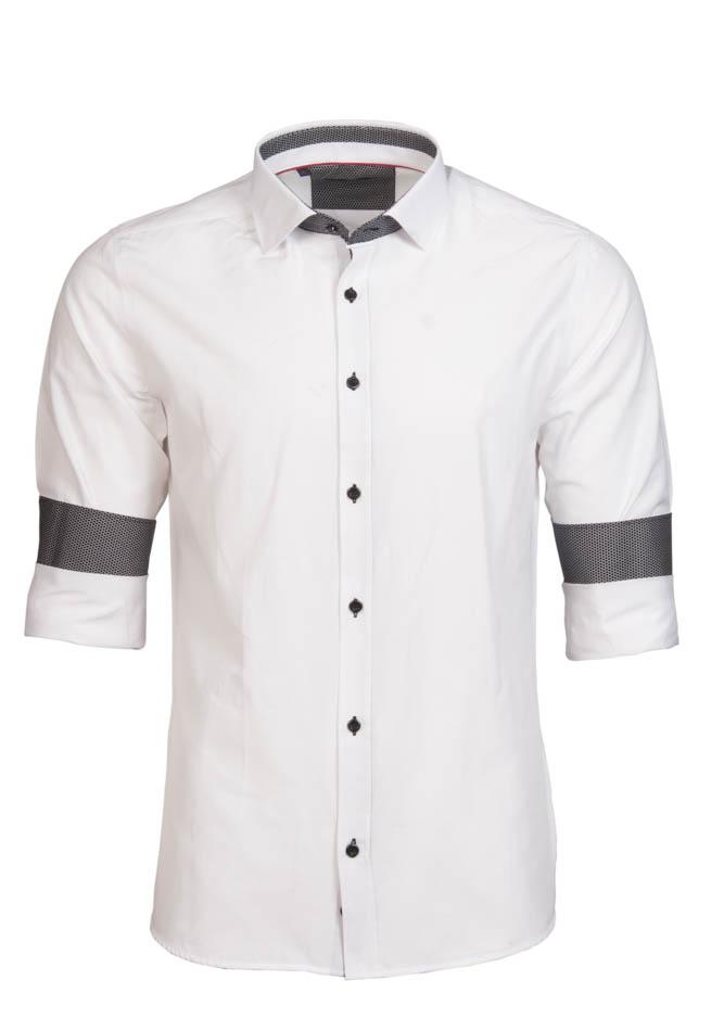 Ανδρικό Πουκάμισο Brand's White αρχική ανδρικά ρούχα πουκάμισα