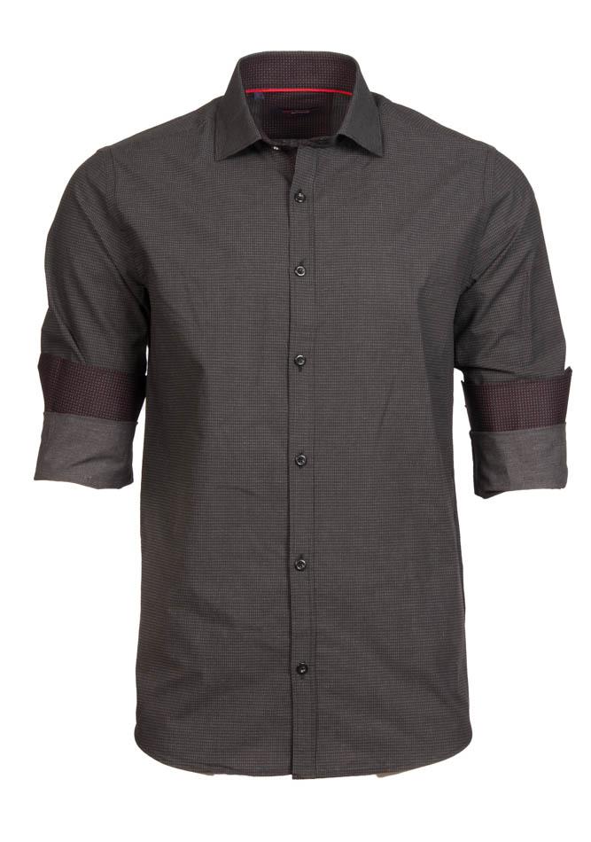 Ανδρικό Πουκάμισο Brand's Grey Triangles αρχική ανδρικά ρούχα επιλογή ανά προϊόν πουκάμισα