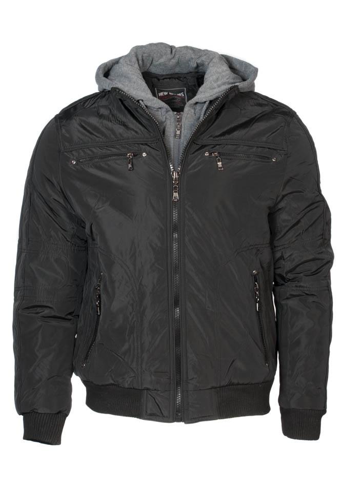 Ανδρικό Μπουφάν New Brams Black αρχική ανδρικά ρούχα επιλογή ανά προϊόν μπουφάν