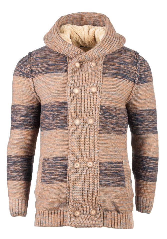 Πλεκτή Ζακέτα Zen Stripes Brown αρχική ανδρικά ρούχα ζακέτες