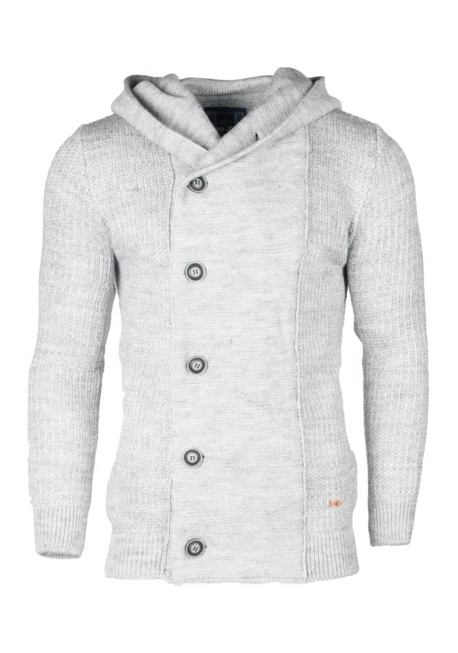 Πλεκτή Ζακέτα Zen Grey Buttons Γκρι αρχική ανδρικά ρούχα ζακέτες
