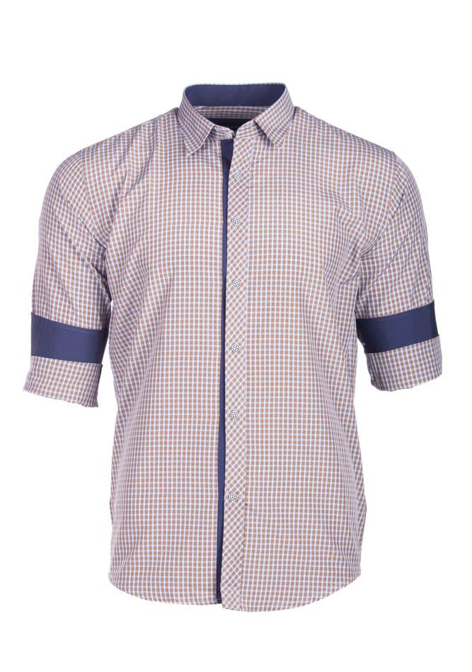Ανδρικό Πουκάμισο So Ciel Brown Καρώ αρχική ανδρικά ρούχα επιλογή ανά προϊόν πουκάμισα