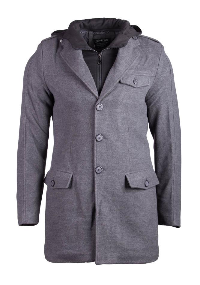 Ανδρικό Παλτό Enos Black Hood αρχική ανδρικά ρούχα επιλογή ανά προϊόν μπουφάν