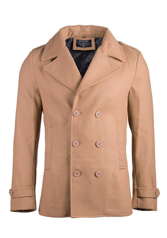 Ανδρικό Παλτό Enos Camel Double Buttons αρχική ανδρικά ρούχα μπουφάν