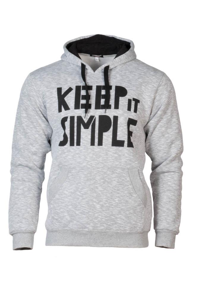 Ανδρικό Φούτερ Keep it Simple Γκρι αρχική άντρας μπλούζες φούτερ