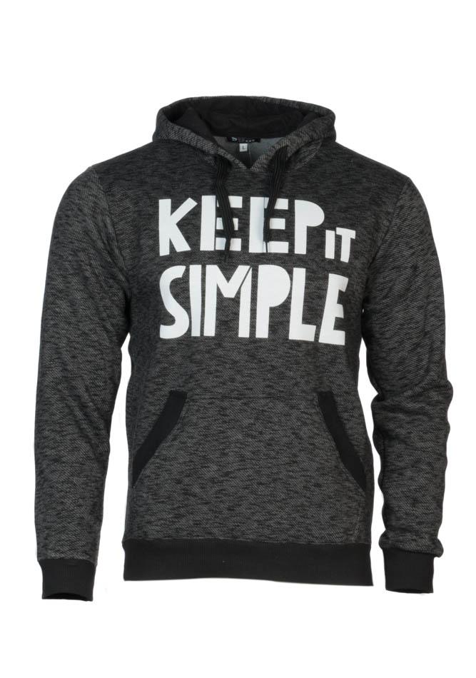 Ανδρικό Φούτερ Keep it Simple Μαύρο αρχική ανδρικά ρούχα