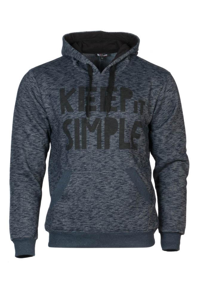 Ανδρικό Φούτερ Keep it Simple Μπλε αρχική ανδρικά ρούχα επιλογή ανά προϊόν φούτερ