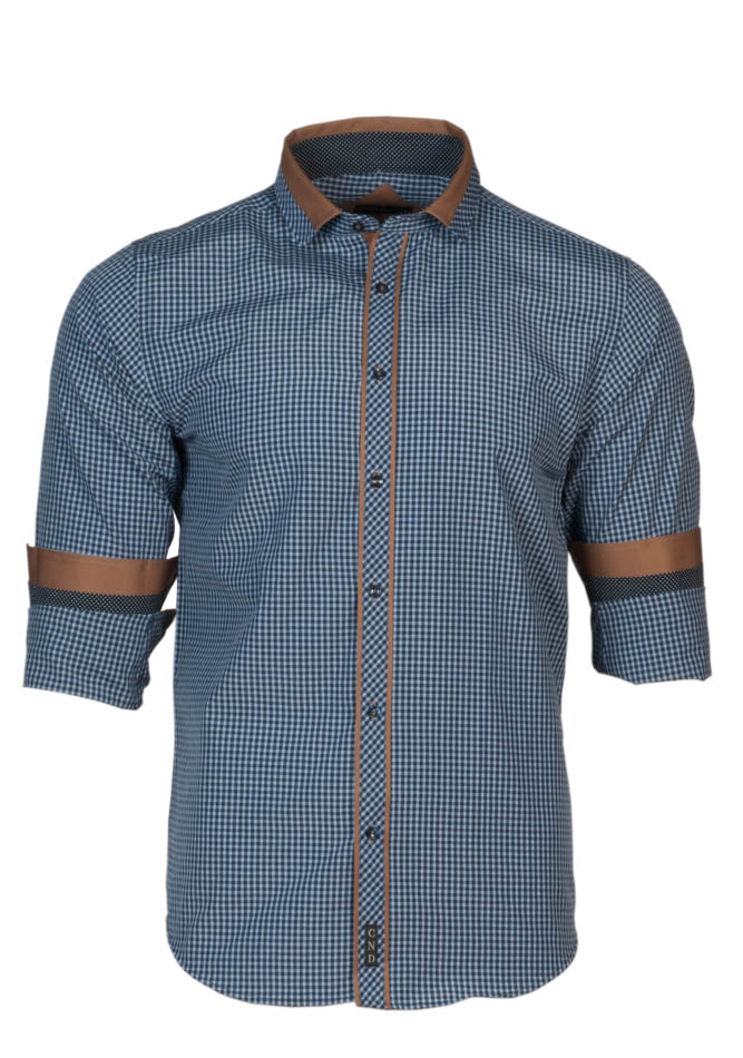 Ανδρικό Πουκάμισο CND Blue Καρό αρχική ανδρικά ρούχα επιλογή ανά προϊόν πουκάμισα