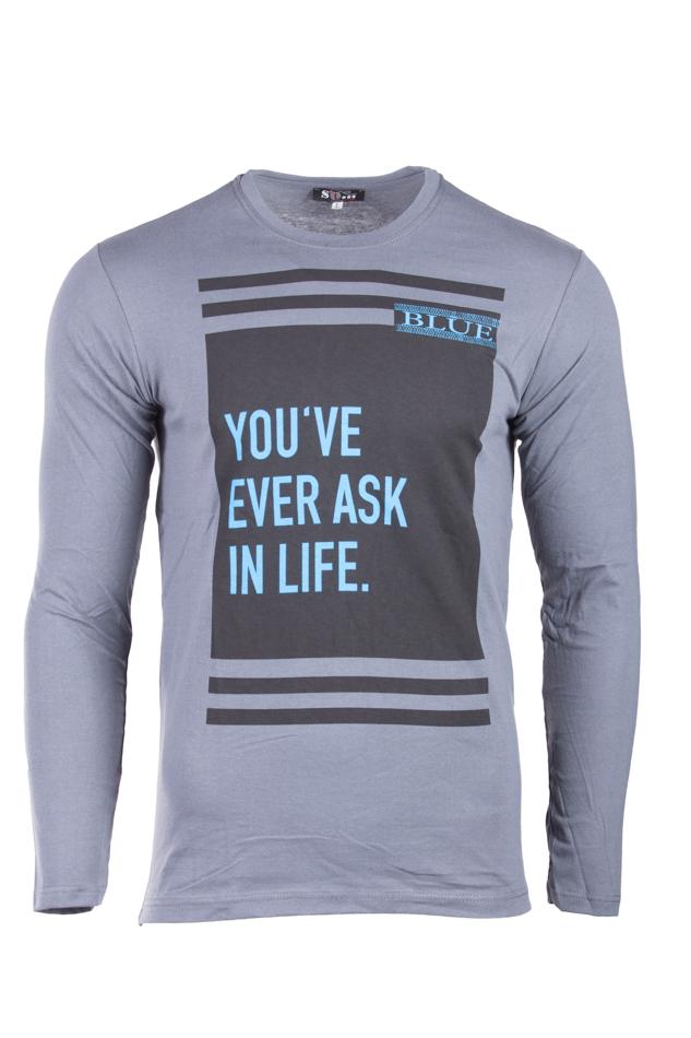 Ανδρική Μπλούζα In Life Grey αρχική ανδρικά ρούχα επιλογή ανά προϊόν μπλούζες