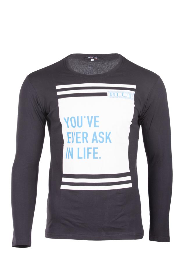 Ανδρική Μπλούζα In Life Black αρχική ανδρικά ρούχα επιλογή ανά προϊόν μπλούζες