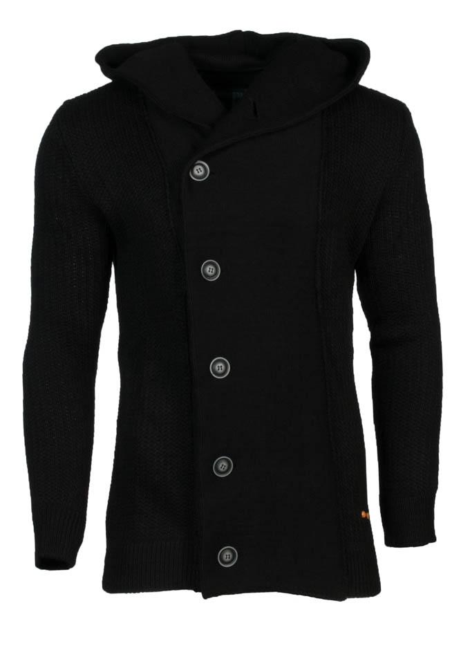 Πλεκτή Ζακέτα Zen Grey Buttons Μαύρο αρχική ανδρικά ρούχα ζακέτες