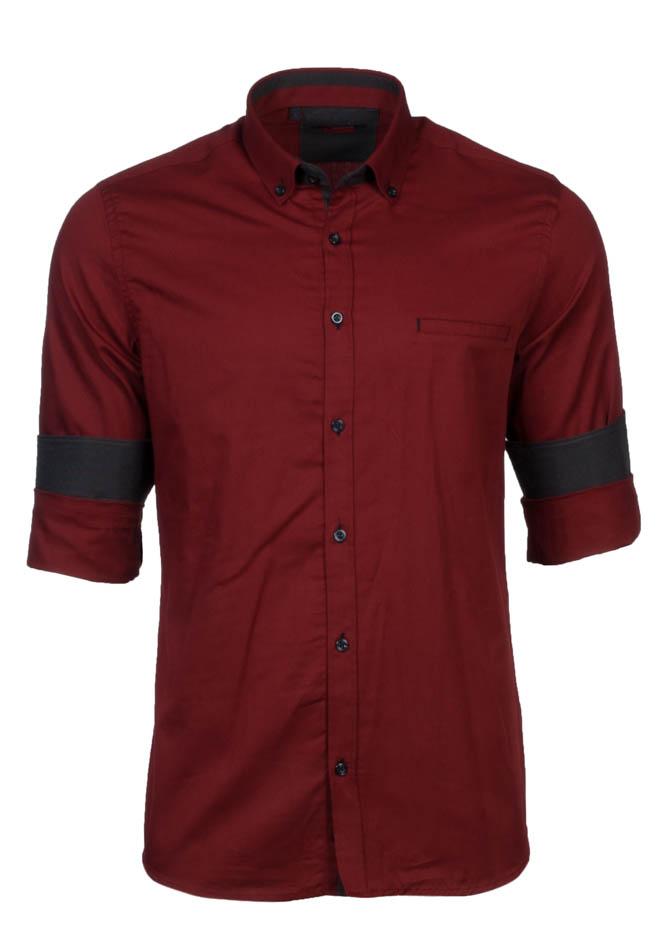 Ανδρικό Πουκάμισο Brand's Bordeaux αρχική ανδρικά ρούχα πουκάμισα