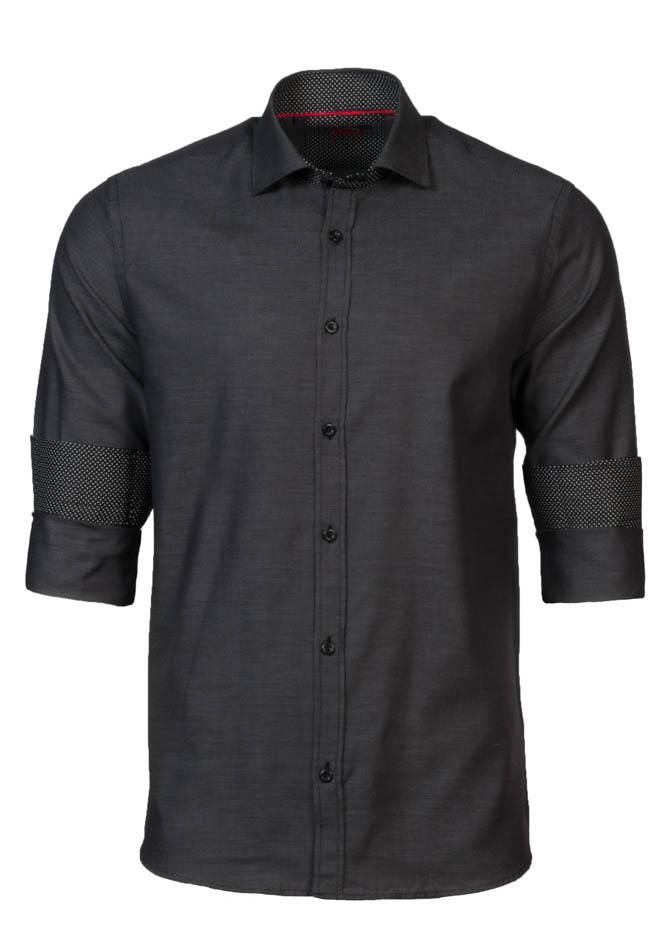 Ανδρικό Πουκάμισο Brand's Dark Grey αρχική ανδρικά ρούχα πουκάμισα