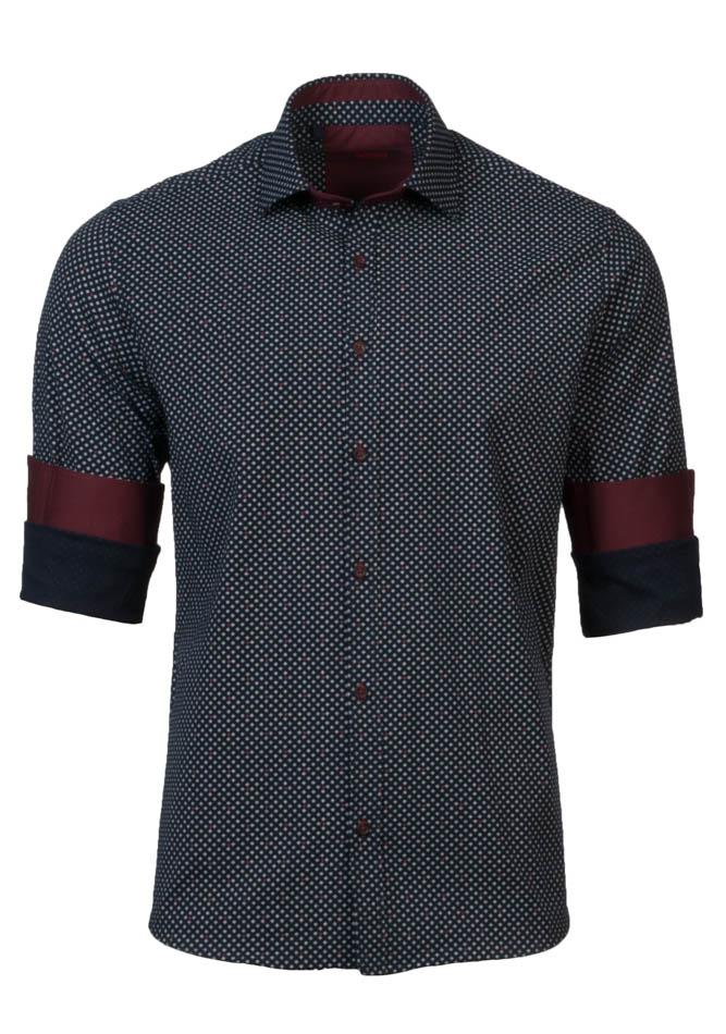 Ανδρικό Πουκάμισο Brand's Blue Square αρχική ανδρικά ρούχα πουκάμισα