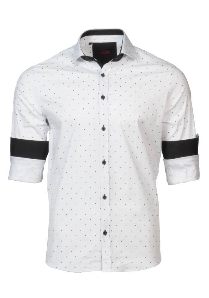 Ανδρικό Πουκάμισο Brand's White Poua αρχική ανδρικά ρούχα πουκάμισα
