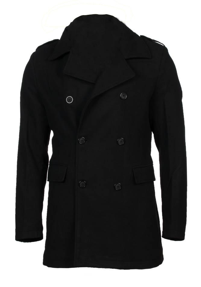 Ανδρικό Παλτό Enos Black αρχική ανδρικά ρούχα μπουφάν