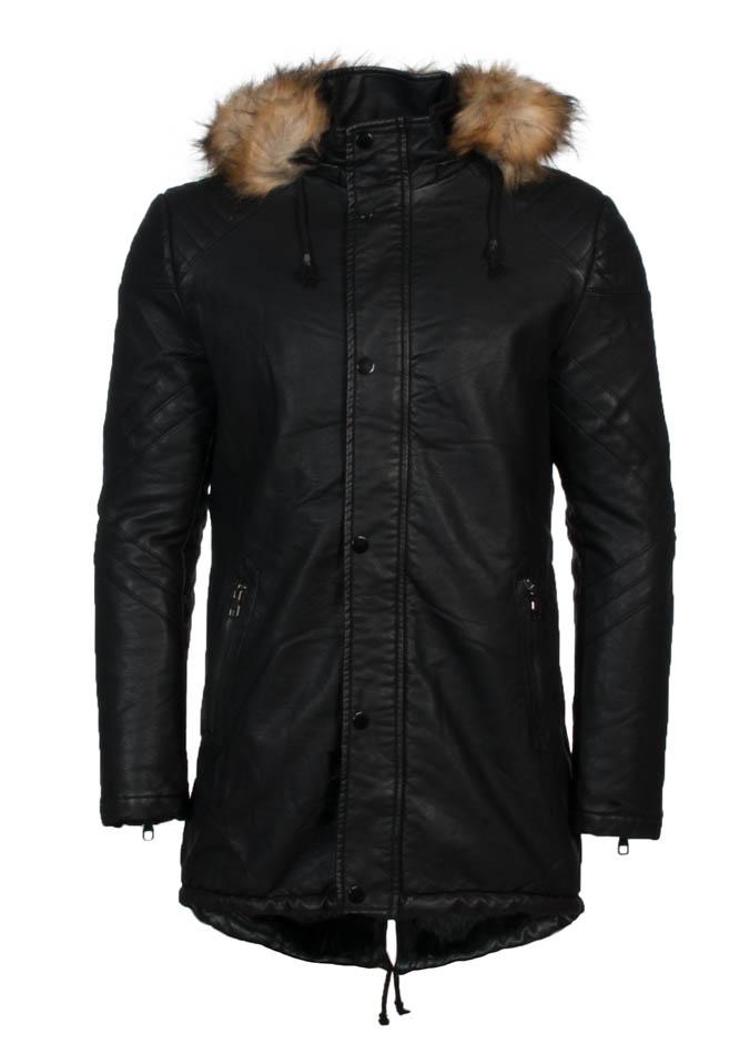 Ανδρικό Μπουφάν Parka Leather αρχική ανδρικά ρούχα μπουφάν